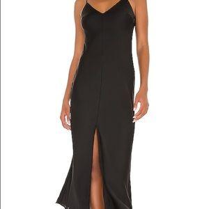 Free People Smoke & Mirrors Maxi Slip Dress in Black